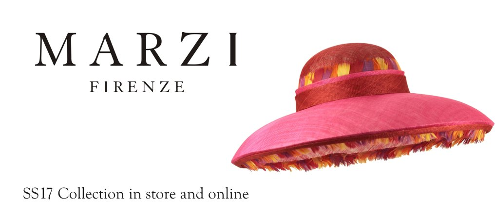 Marzi SS17 Millinery available at Titfertat Richmond