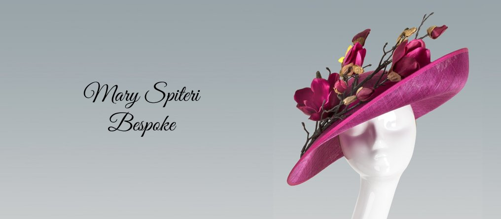 Mary Spiteri Bespoke Occasion Hats available from Titfertat Hats Richmond