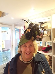 Customised designer hat produced for customer by Mary Spiteri