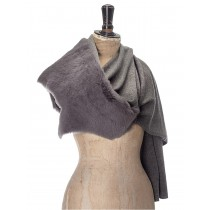 Toscana Lambskin and cashmere knit wrap