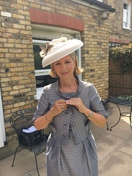 Personally designed hat produced for Mother of the Bride