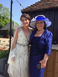 Mother of the Bride broad brim hat created by Mary Spiteri of Titfertat Hats Richmond